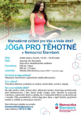 Těhotné maminky mohou cvičit jógu v Nemocnici Šternberk
