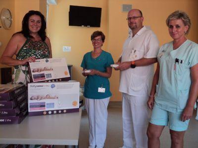 Jedenáct nových přístrojů zajistí bezpečný spánek novorozenců v nemocnicích Jeseník a Šternberk