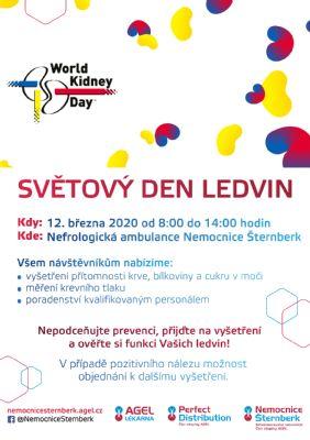 12. března zdravotníci prověří zájemcům ledviny
